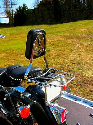 HONDA VT 125 VT125 SHADOW SISSY BAR PASSENGER BACKREST + LUGGAGE RACK!
