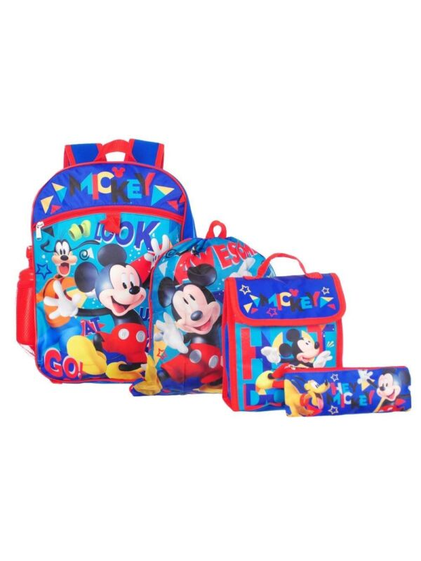 "Mickey Mouse Boy 16"" Backpack And Back to School Essentials 5 Piece Set"
