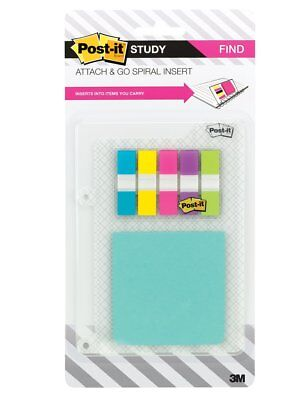 New Post-it Study Attach And Go Insert For Spiral Notebooks