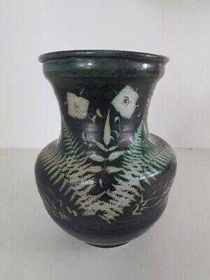 Vase Ceramic, Decor Flower And Ferns