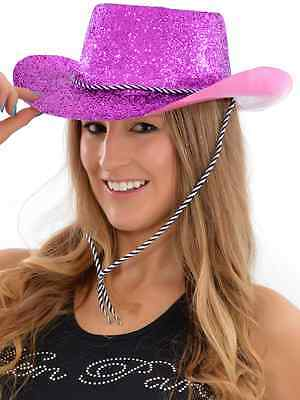 CHEAP FANCY DRESS PINK COWGIRL HAT HEN PARTY GIRLS NIGHT OUT HAT ACCESSORIES