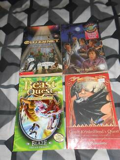 4 Children's Novels- Beast Quest, Count Krinkelfiend's Quest..... Greenbank Logan Area Preview