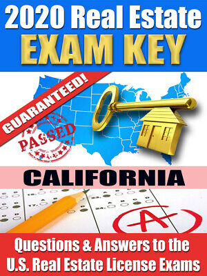 2020 CALIFORNIA Real Estate Exam Prep Study Guide Questions & Answers [CD-ROM] Cd Rom Study Guide
