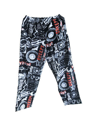 Mens Halloween Punk Rock Elastic Waist Pajama Sleep Lounge Pant Horror Scream M](Horror Punk Halloween)