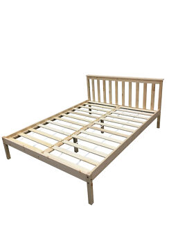 Brand New Double/Queen Pine Wood Bed Frame Natural Colour