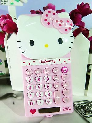 New Cute Stretch HelloKitty Basic Electronic Calculator 8 Digitals lyo-518
