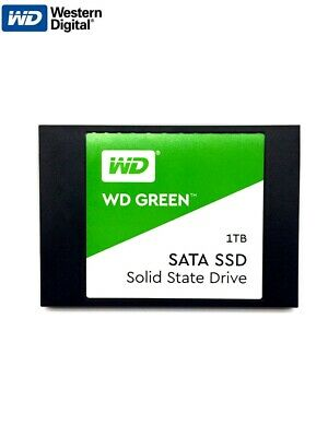 "Western Digital SSD 1TB WD Green 2.5"" Disk Solid State Drive 7mm 540MB/s Read"