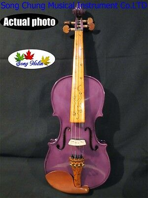 Best craft Purple colors electric & acoustic violin 4/4