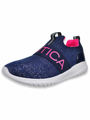 Nautica Girls' Sparkle Canvey Sneakers (Sizes 13 - 5)