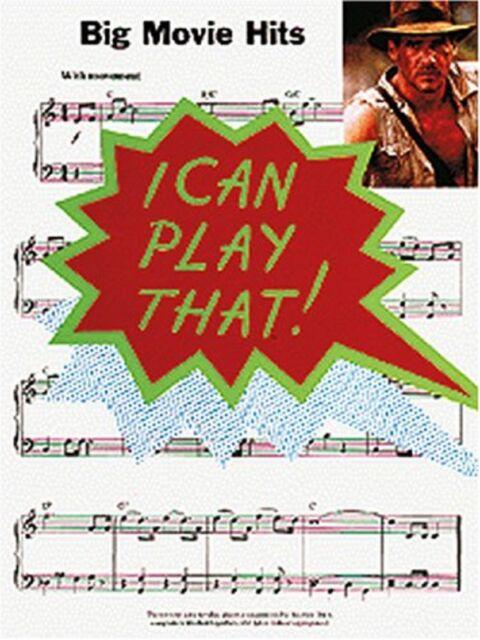 I Can Play That! Big Movie Hits Piano Book Sheet Music Chords Lyrics S26