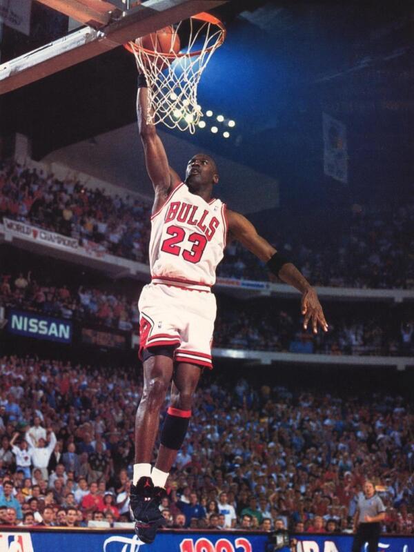 Michael Jordan Jump With The Ball 8x10 Photo Print