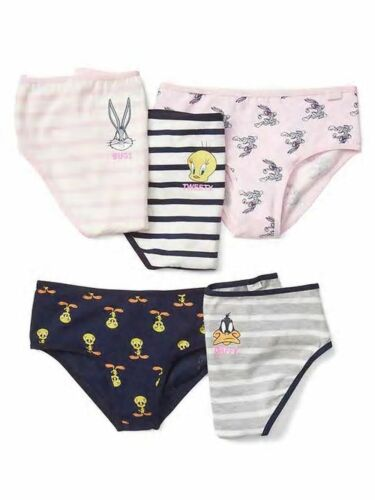 New Baby Gap Girls 5 Pack Panties Bikinis Underwear 2 3 year  NWT Looney Tunes
