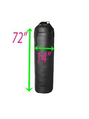 UNFILLED Muay Thai Punching Heavy Kick boxing Bag 6ft   Black