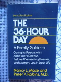 THE 36 HOUR DAY BOOK.  Excellent dementia, Alzheimers resource!