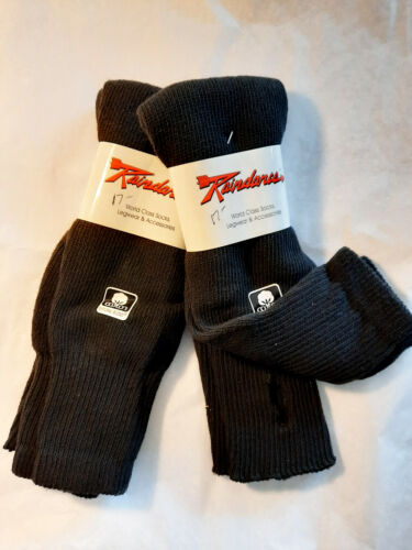 RAINDANCE STIRRUP LEG WARMERS 100% COTTON - BLACK