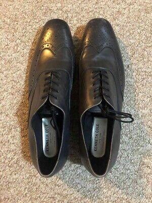 Unworn Kenneth Cole New York Black Mens Leather Shoes UK Size 8