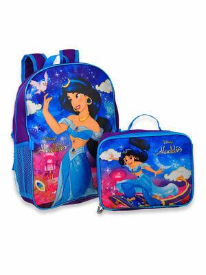 Disney Princess Jasmine Aladdin Girls School Backpack Lunch Box BookBag Toy Gift