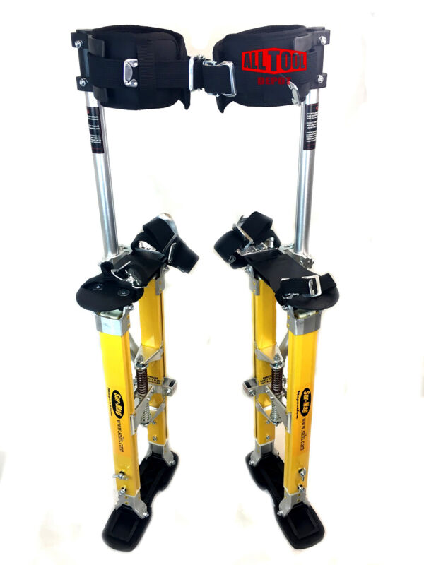 "Sur-Pro SP Quadlock Single Pole Magnesium Drywall Stilts 18-30"" - Medium"