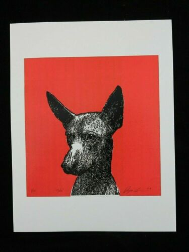 """Print """"Xoloitzcuintle"""" Dog on Glossy Paper Mexican Fine Art Collectible Decor"""