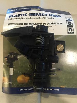 Orbit 12 Threaded Plastic Impact Impulse Yard Watering Sprinkler Head - 55011