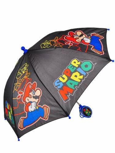 Little Boys Super Mario Luigi Toddler Kids Cute Rain Cartoon Umbrella Kids Gift
