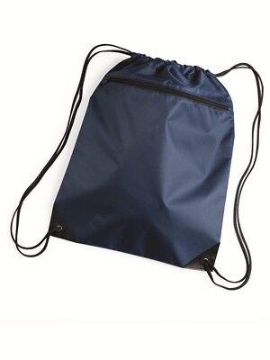 Liberty Bags - Denier Nylon Zippered Drawstring Backpack - 8
