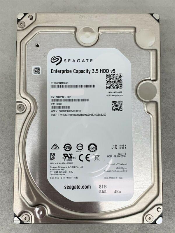 Seagate Enterprise ST8000NM0065 8TB 7200RPM 3.5IN 4KN SAS-12GBPS Server HDD K002