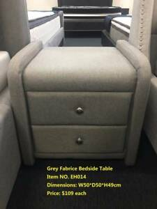 Quality Brand New Bedside Tables Leather/Fabric (EH006)