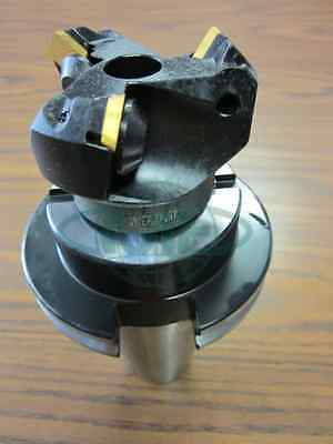 2 45 Degree Indexable Face Shell Mill W. Cat50 Arborface Milling Cutter --new