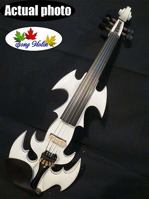 "Best model crazy -1 SONG art streamline 5 string electric viola 16"" white color"