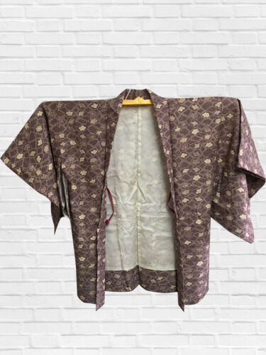 VINTAGE JAPANESE KIMONO, ANTIQUE HAORI, CRAFT MATERIAL, FROM JAPAN, CULTURE