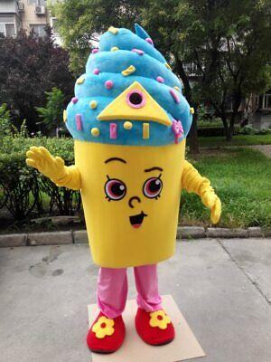 Icecream Mascot Costume Suit Cosplay Party Game Dress Unisex Halloween Adult New - Halloween Ice Cream Games