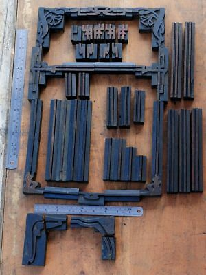 Letterpress Border Wooden Printing Blocks Ornaments Art Nouveau Wooden Printer