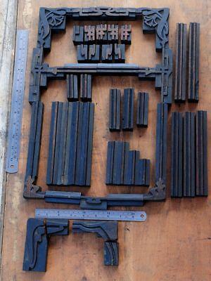 Letterpress Border Wooden Printing Blocks Ornaments Art Nouveau Wooden Printer