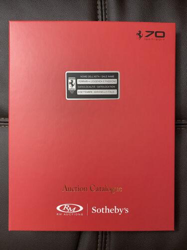 RM Sotheby's FERRARI LEGGENDA E PASSIONE 70 YEARS AUCTION CATALOGUE ~RARE~