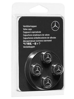 Mercedes-Benz 4 Chrome Black Valve Caps For GLE Coupe C292 B66472002 Genuine New