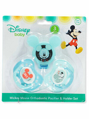 - Disney Mickey Mouse 3-Piece Orthodontic Pacifier & Holder Set