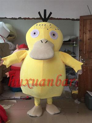 2017 Brand Psyduck Adult Mascot Costume Halloween Party Pokemon Go Cosplay Game - Game Halloween Costume 2017