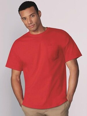 Gildan - Heavy Cotton T-Shirt with a Pocket - (Heavy Cotton Pocket T-shirt)