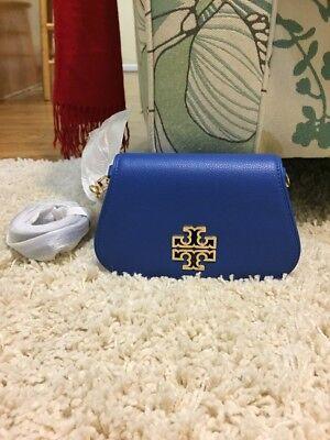 New Tory Burch Britten Mini Bag Bondi Blue $ 275