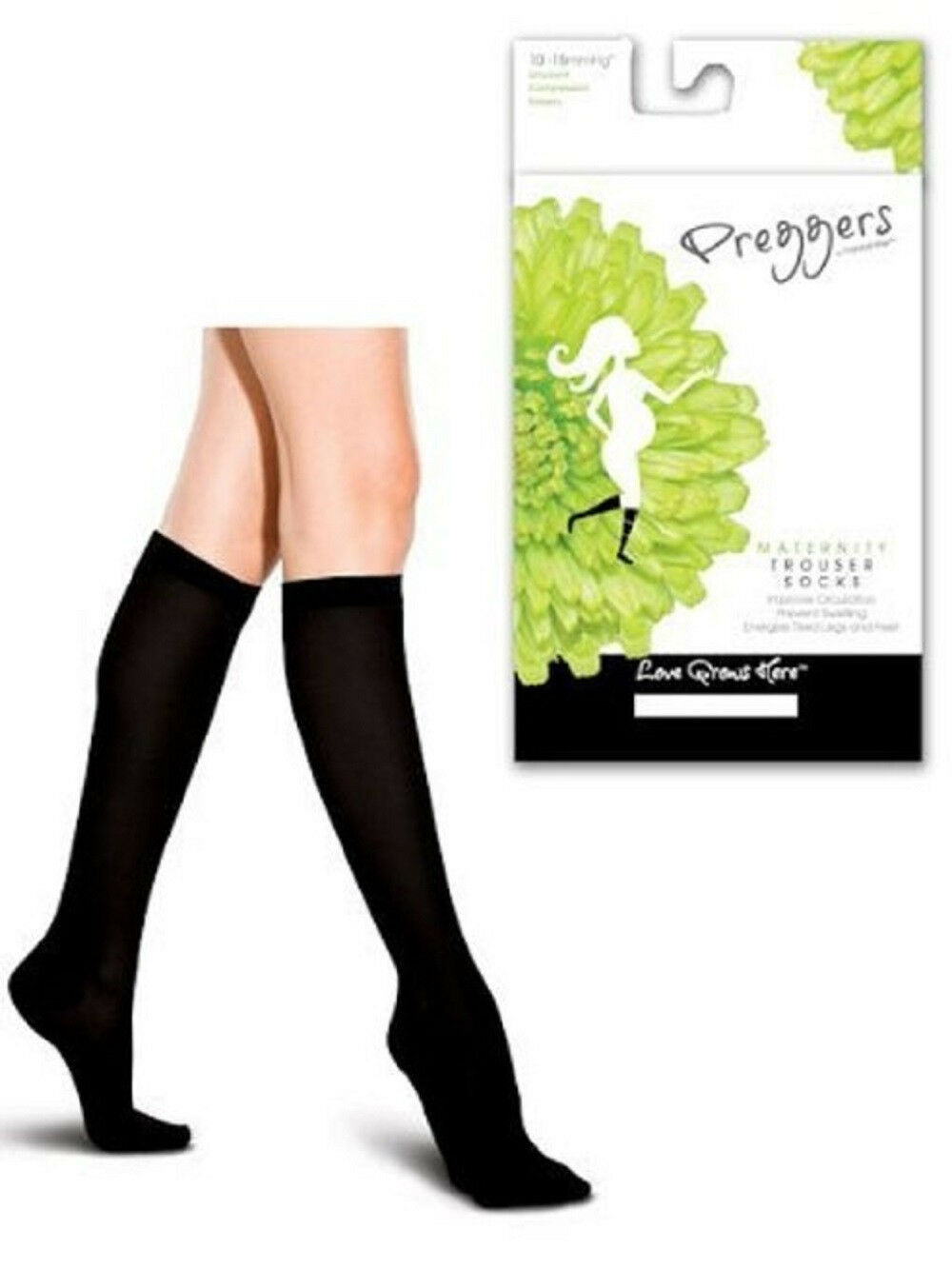 Preggers French Twist Maternity Support Trouser Socks 10-15 mmHg