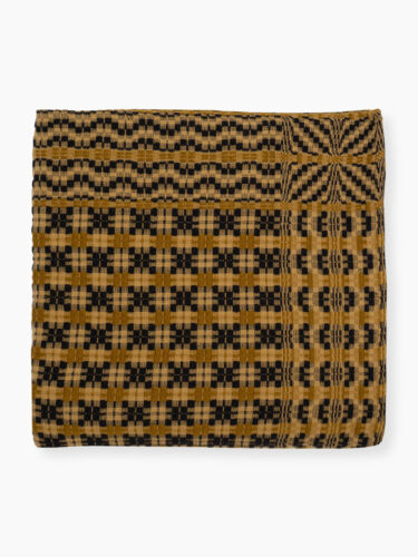 Family Heirloom Weavers   Sweet Briar Beauty   Table Square   NWT   Mustard