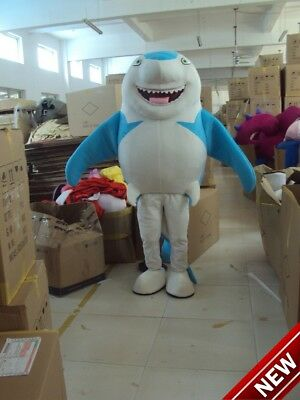Cute Blue Shark Mascot Costume Adult Character Costume Mascot As Fashion Cosplay - Cute Shark Costume