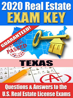 2020 TEXAS VUE Real Estate Exam Prep Study Guide Questions & Answers [CD-ROM] Cd Rom Study Guide