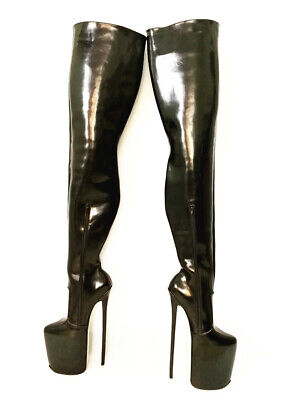 11.8 inches High Height Sexy boots Stiletto Heel Over The Knee Boots US Size5-14 - 5 Inch Thigh High Boots