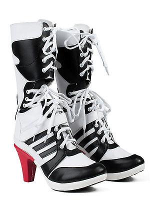 Batman DC Comics Suicide Squad Harley Quinn Cosplay Boots  Shoes Female US 7 - Female Batman Cosplay
