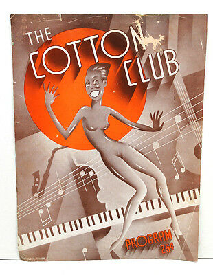 Antique 1930's Cotton Club Program Cover Adelaide Hall Harold Simon Illustrator