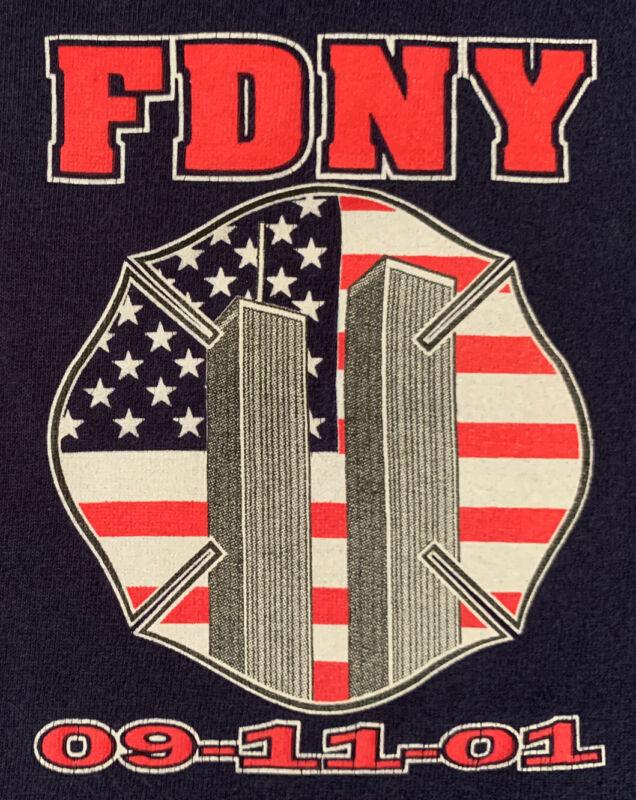 FDNY NYC Fire Department New York City T-shirt Sz 2XL WTC 9/11