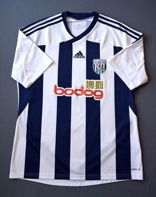 4.6/5 West Bromwich Albion 2011-2012 Football Home Jersey Shirt Adidas Size L image
