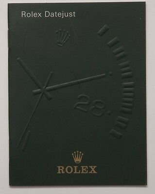 Genuine Rolex Datejust Vintage 1999 English Manual Booklet Papers Book Guide